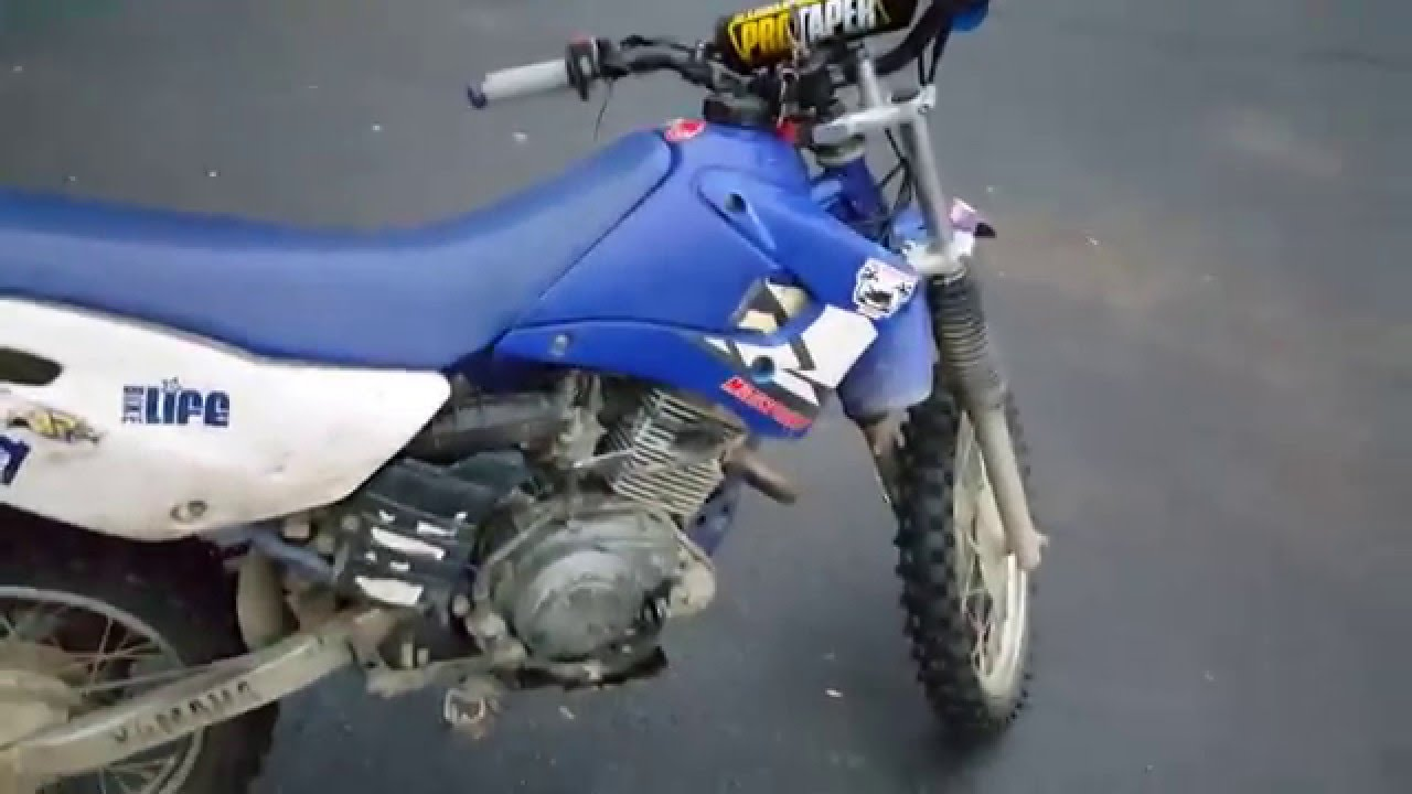 Ghetto yamaha ttr 125 dirt pit bike walk around youtube for Uses for dirt