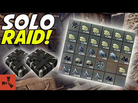 TWO C4 = INSANE LOOT! MY BEST SOLO RAID! (Rust Solo Survival) #10