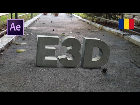 Tutorial AE & Element 3D: Text 3D Real Plasat Intr-o Filmare