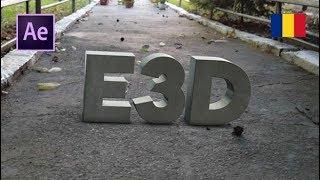 Tutorial AE & Element 3D: Text 3D real plasat intr-o filmare