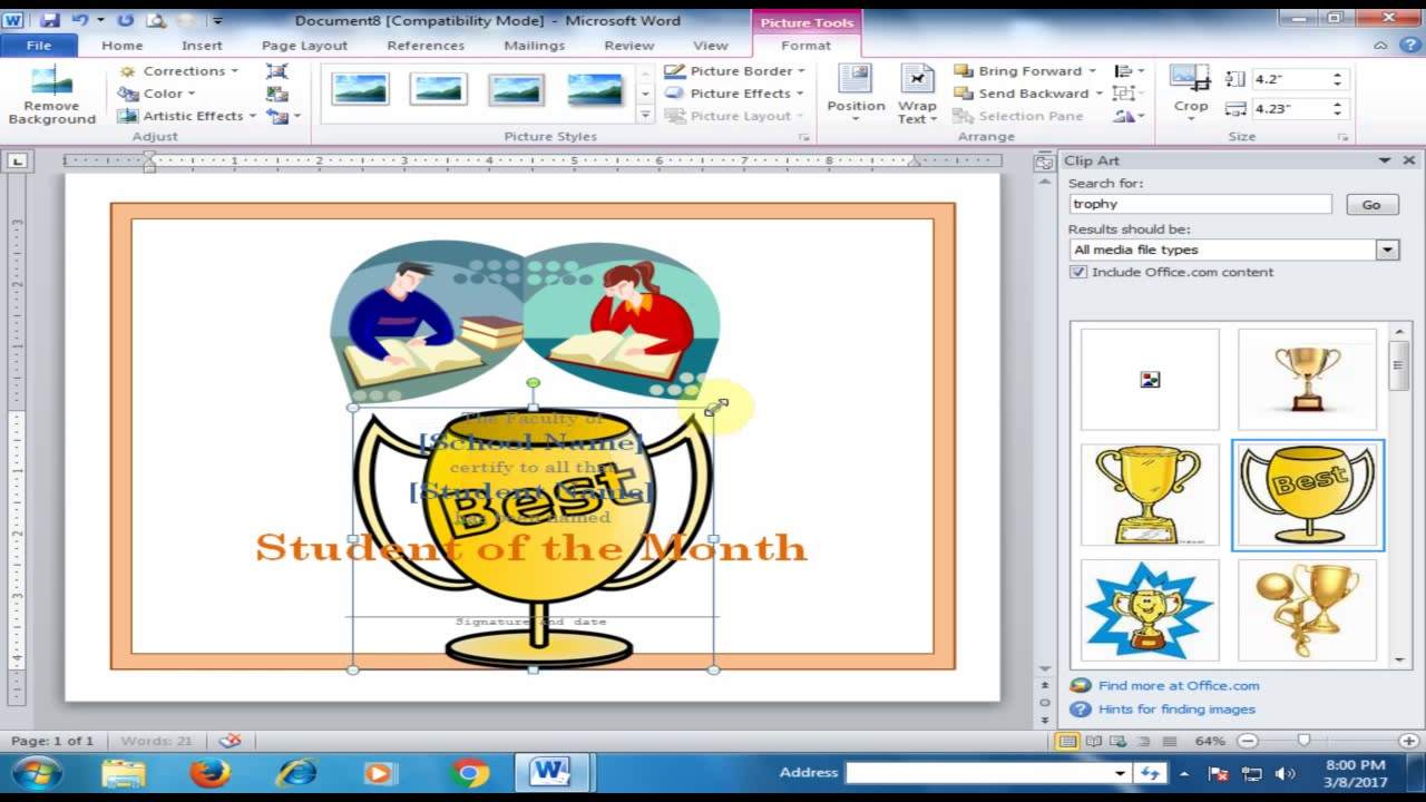 Design Certificates in Microsoft Word Word Tips and Tricks Urdu – Microsoft Word Certificates