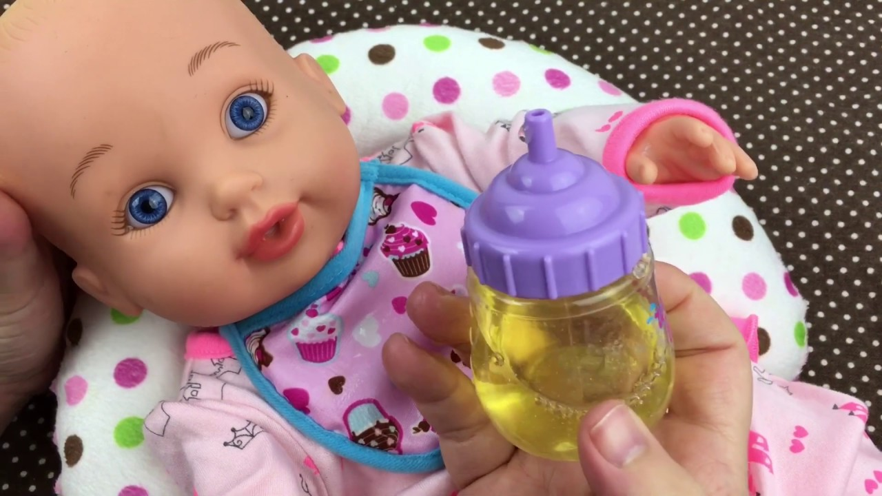 Feeding Waterbabies Special Delivery Baby Doll Baby Alive Apple Doll Juice Youtube