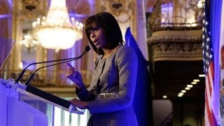 First Lady Michelle Obama Speaks at Meeting to Address Youth Violence
