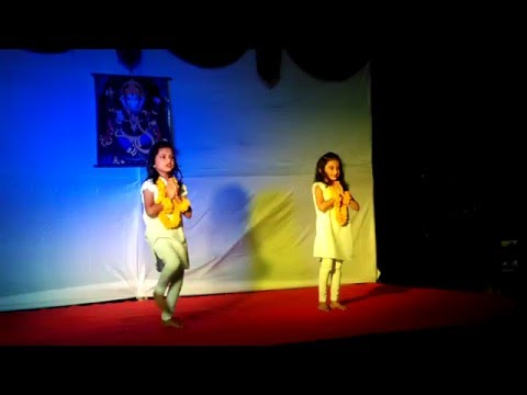 Swaagat Geet by Diksha and Dweeti at Sai Chandrodaya