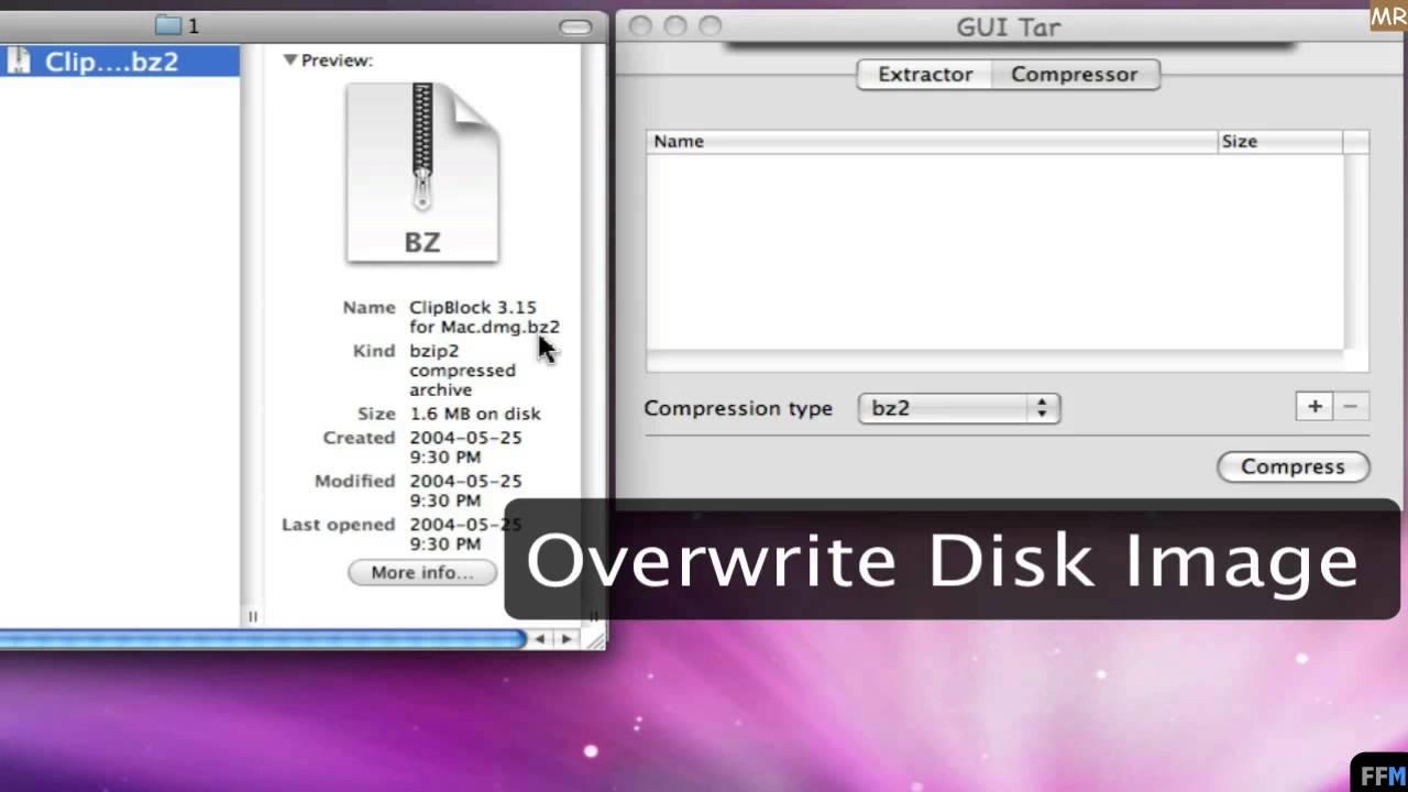 Compress .tgz, .tar, .gz... Free on Mac-MR - YouTube