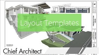 How To Set Up A Layout Template In Chief Architect
