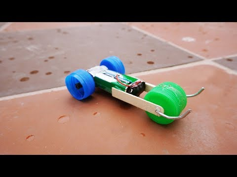 DIY Car Toy from DC Motor - Simple Life Hacks