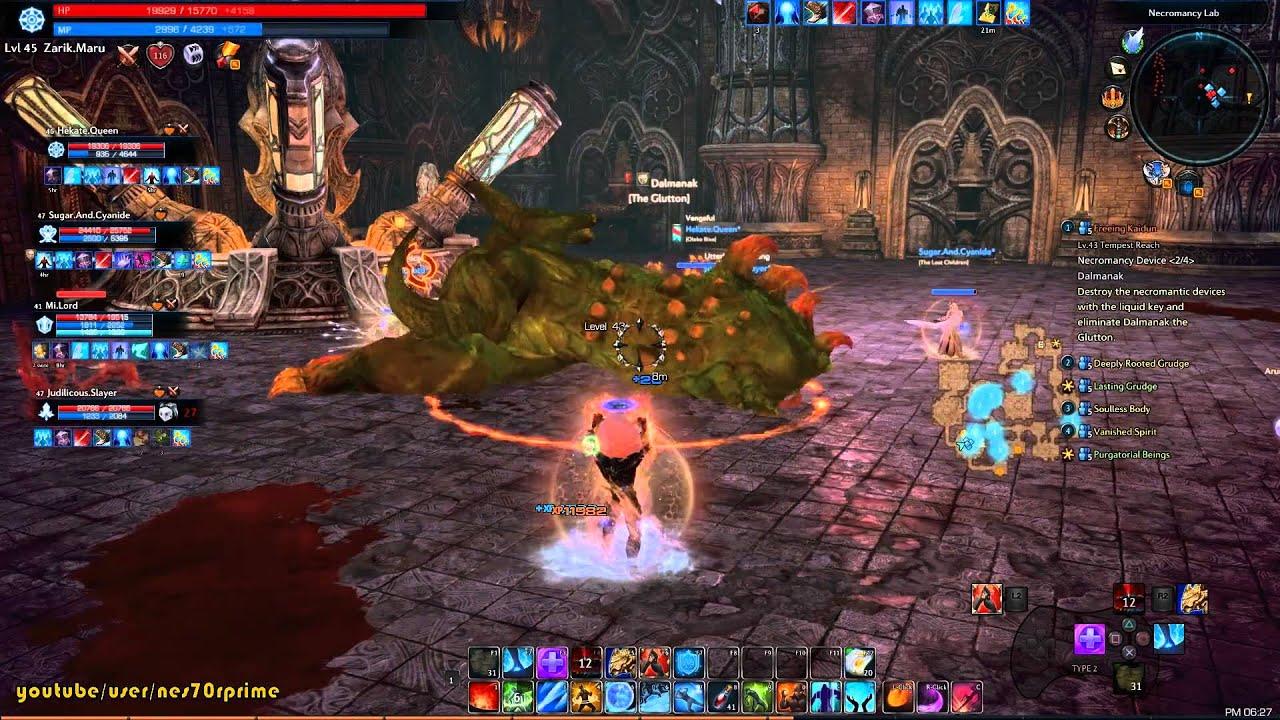 El Mejor Rpg Online Tera Sorcerer Gameplay En Necromancer Tomb Rol