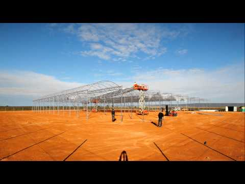 Seawater Greenhouse Australia construction time lapse (2010)