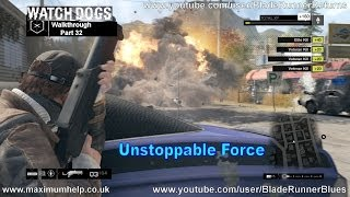 32 Unstoppable Force (Act 3.3) Watch Dogs Walkthrough Realistic Difficulty PC Max Settings 1080p HD