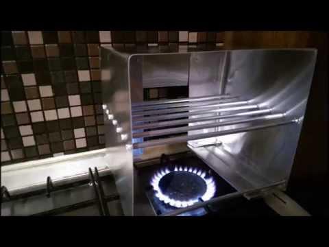 como hacer un horno para hornalla a gas  come fare forno per cucina a gas  YouTube