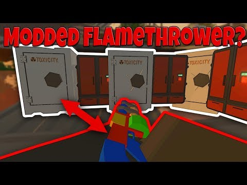 RAIDING WITH A MODDED FLAMETHROWER? - Modded Unturned