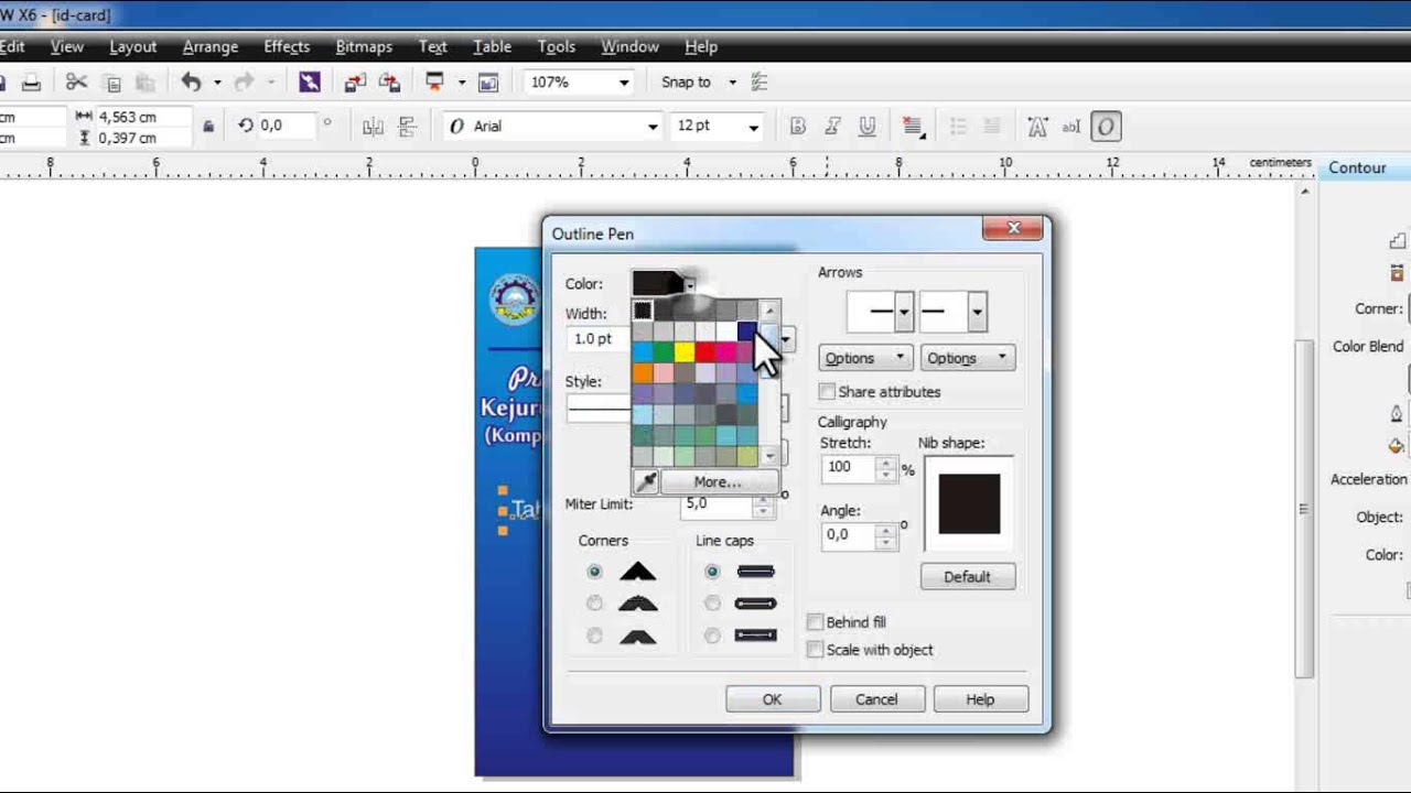 TUTORIAL : How to make Id Card With Corel Draw - YouTube