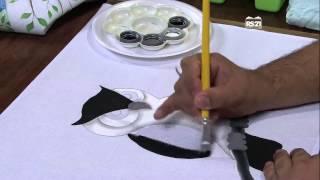 Luciano Menezes – Pintura em tecido coruja Parte 1/2