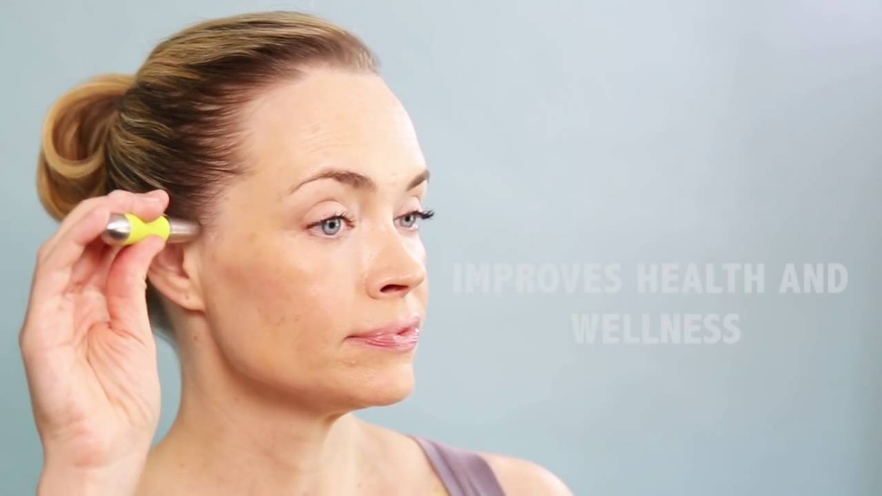 TOUCH + GLOW™ Cosmetic Facial Acupressure Wand - YouTube