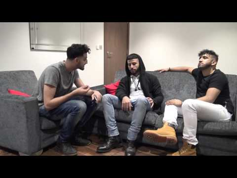 BOXING MATCH INTERVIEW! ADAM SALEH VS NAZIZI