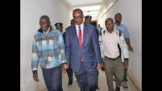 Dr Evans Kidero speaks after his arrest by EACC detectives