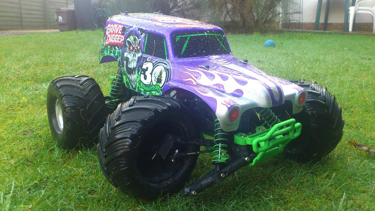traxxas grave digger a break in the garden