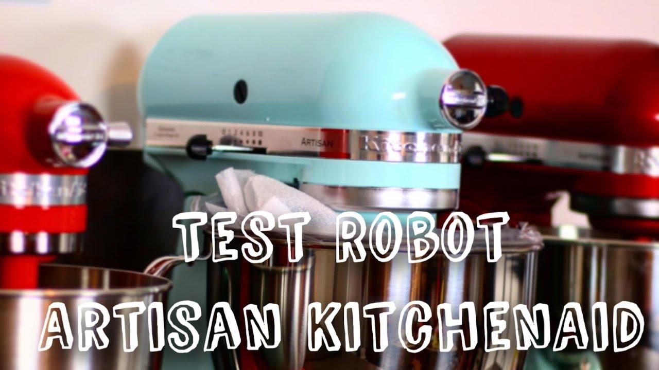 demonstration et test robot patissier robot artisan kitchenaid 4 8l