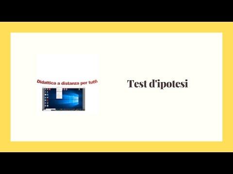 Test d'ipotesi su medie e frequenze (prima parte)
