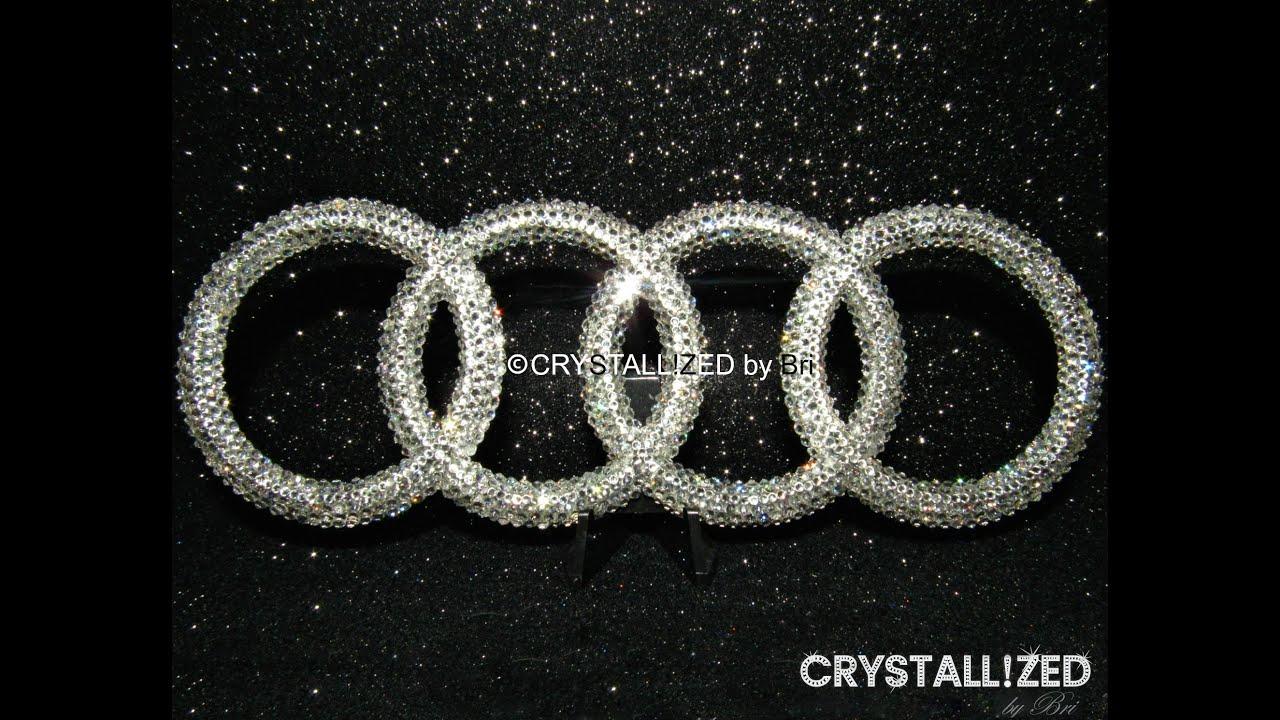 Audi schlüsselanhänger swarovski