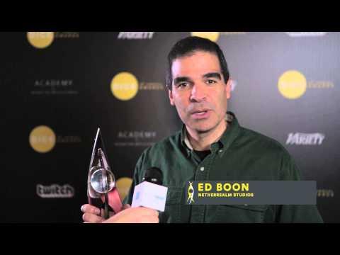 2014 D.I.C.E. Awards - Fighting GOTY Winner's Speech (Injustice - NetherRealm Studios)