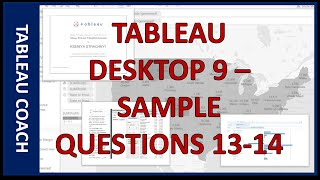 Tableau Desktop 9 - Sample Questions #13-14