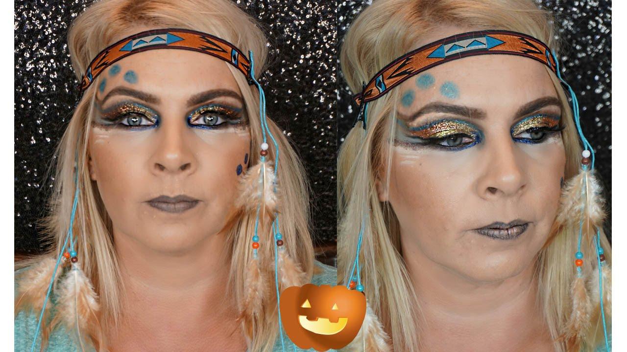 Disneys pocahontas makeup tutorial glam pocahantas halloween disneys pocahontas makeup tutorial glam pocahantas halloween makeup youtube baditri Images