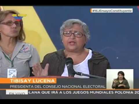 Tibisay Lucena: el simulacro electoral demuestra que el proceso de votación es sencillo y rápido