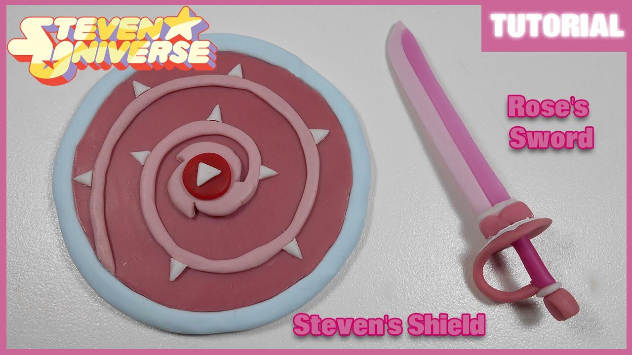 Steven's Shield & Rose's Sword Polymer Clay Tutorial