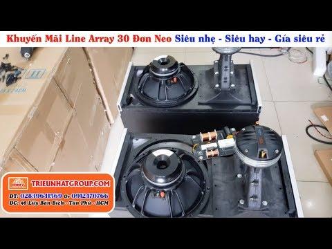 Loa array 30 Đơn Neo Cao Cấp Khuyến mãi giá cực tốt