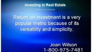 ROI Investment Terms in Real Estate Return on Investment