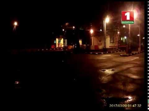 Видео попытки прорыва на белорусско-украинской границе