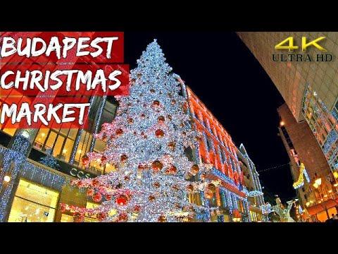 Budapest Christmas Market 2018.Budapest Christmas Market Hungary 2018 4k Ultra Hd
