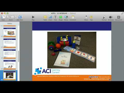 ACI Learning Centers FREE Webinar:  Teaching Independent Play and Appropriate Leisure Skills