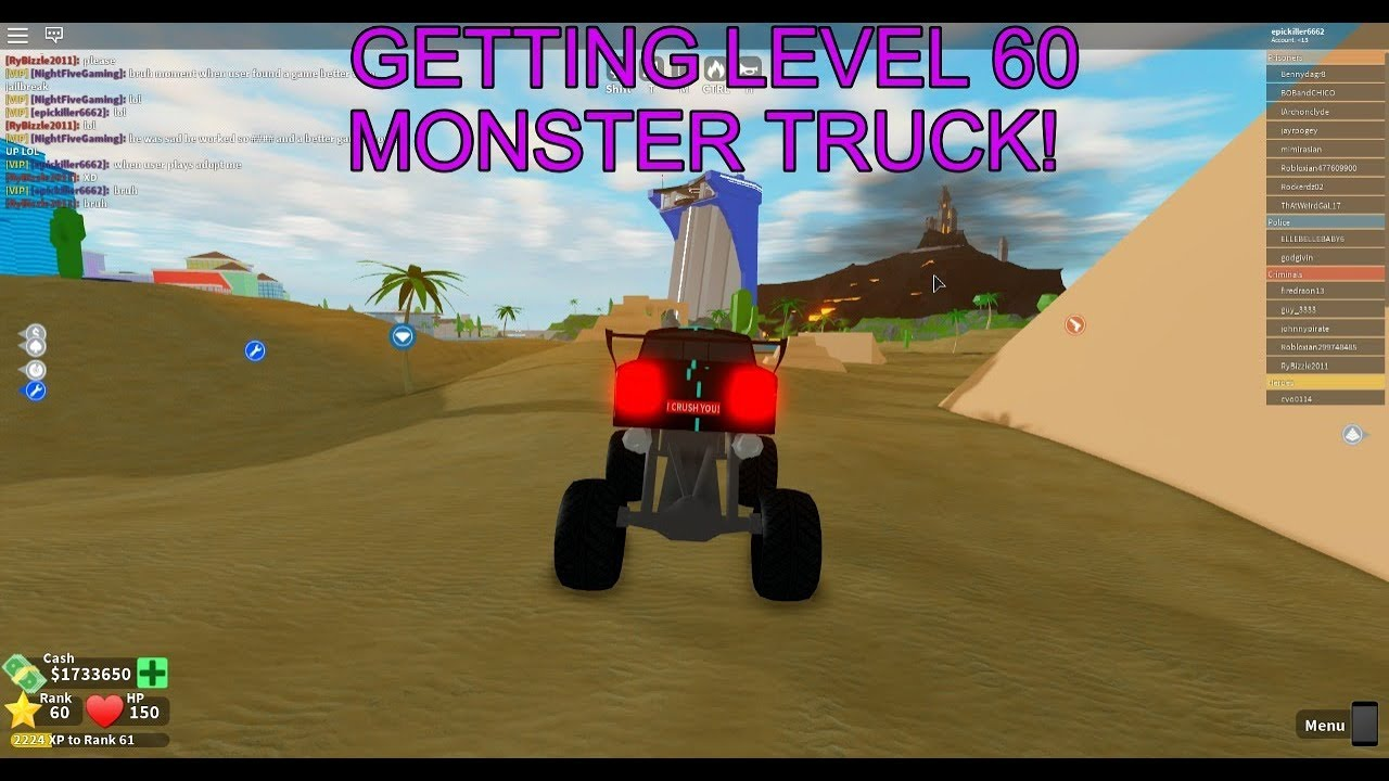 Getting Level 60 Monster Truck Mad City Youtube