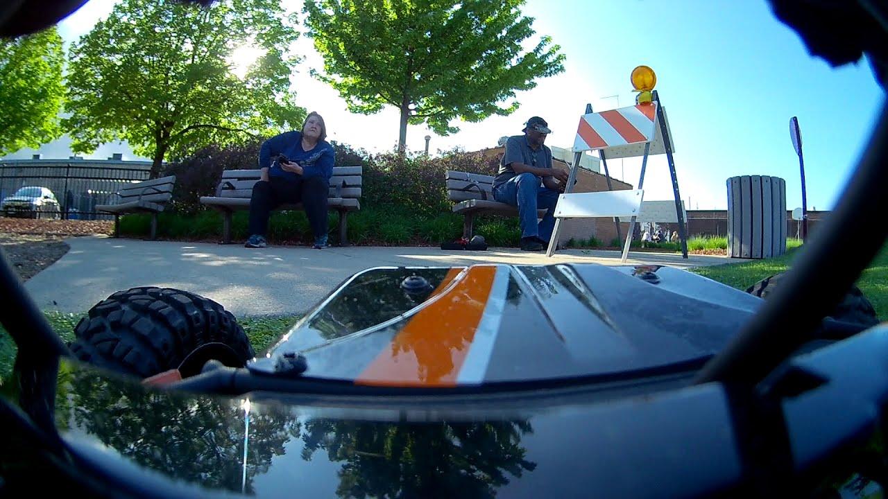 FPV car play lot trial - raw video. фото