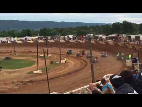 Path Valley Speedway heat race 7-2-2016