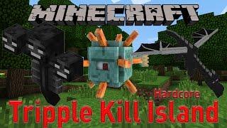 Minecraft Tripple Kill Island Hardcore #1 | Racing Trinity