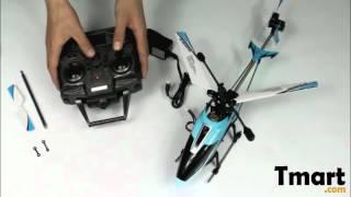 62.24 $40см Рамос 349 3,5 каналу один ротор з R/C вертоліт з гіроскопа синій-14002204