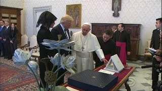 Despite contentious past, President Trump meets Pope Francis at the Vatican