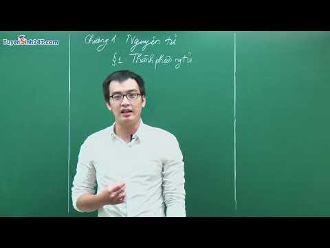 Bài 1: Thành Phần Nguyên Tử – Chương 1: Nguyên Tử | hóa học online lớp 10 |