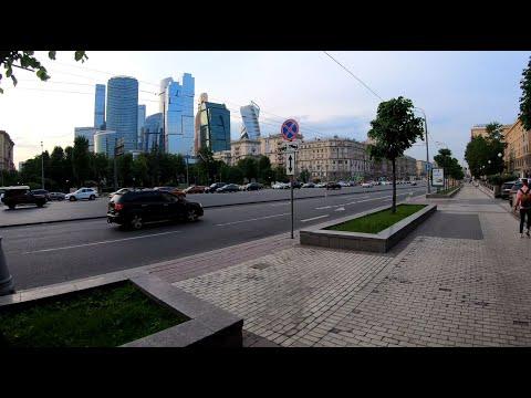 ⁴ᴷ⁵⁰ Cycling Moscow: From Kutuzovksaya Metro Station, Arbatskaya Square To Frunzenskaya Quay