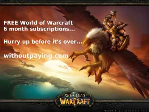 FOR FREE: WoW Subscriptions (WORLD OF WARCRAFT)