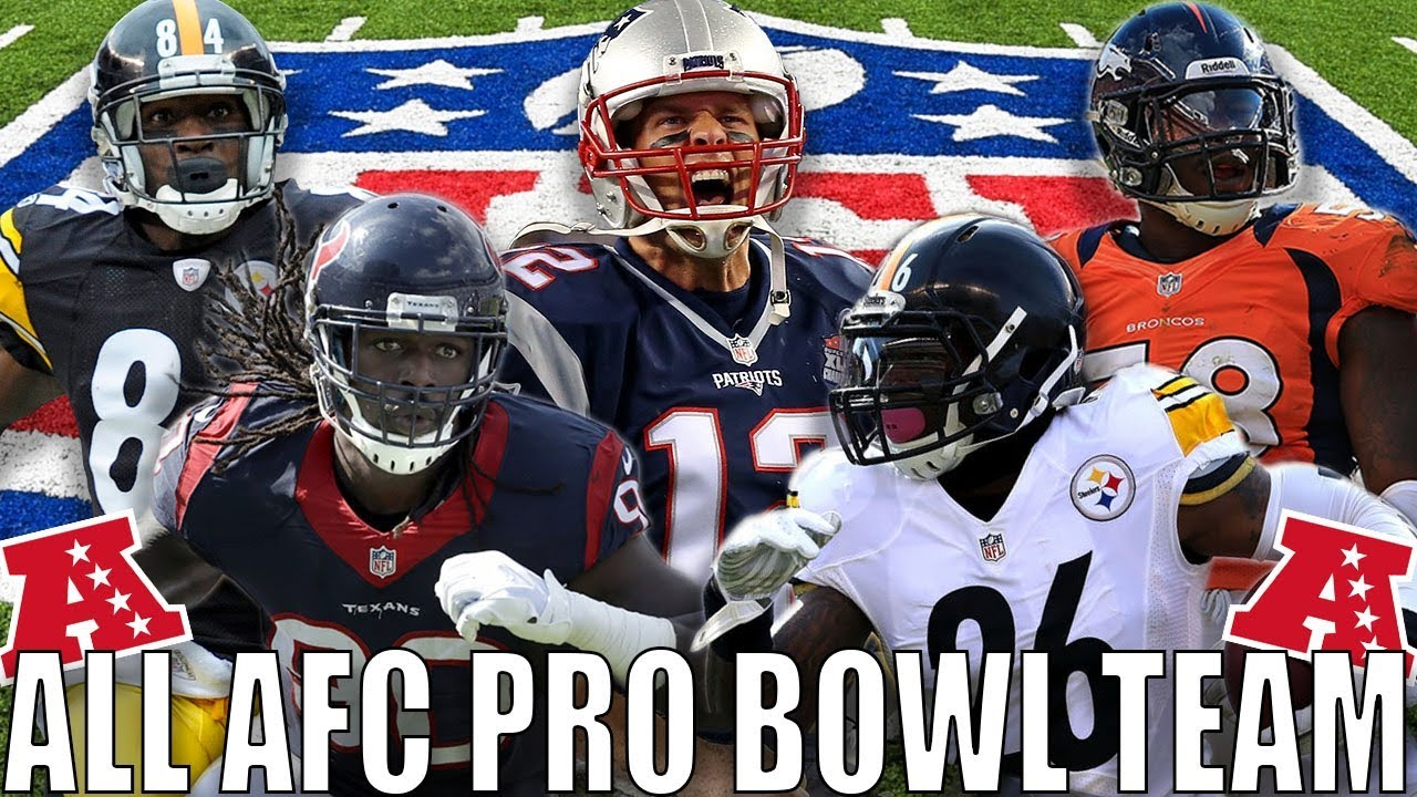 new product f34fa bf5fd ALL AFC PRO BOWL TEAM! TOM BRADY, ANTONIO BROWN, SHAZIER & MORE!