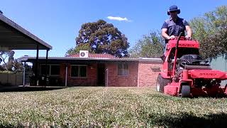 Gravely 36', dry lawn, Sydney South