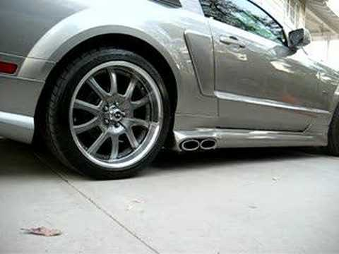 08 Mustang Cervini S Eleanor Side Pipes Startup Youtube
