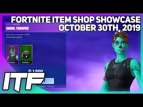 Fortnite Item Shop *RARE* GHOUL TROOPER + REAPER IS BACK!  [October 30th, 2019] (Fortnite BR)