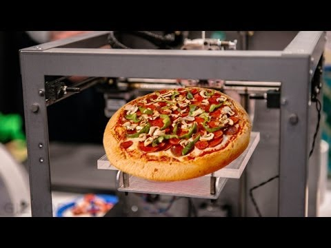 HD 3d printing pizza on a contract from NASA HD - YouTube