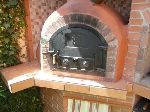 Construcci n de horno de le a 4 la b veda youtube for Construccion de chimeneas de ladrillo